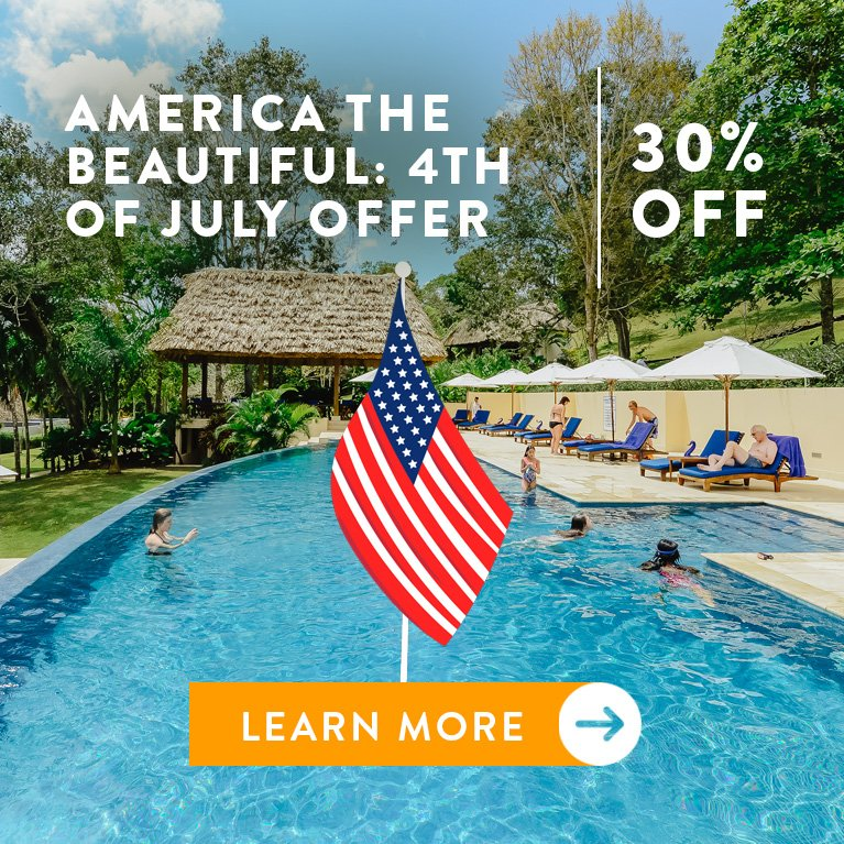 4th of july belize jungle resort travel offer discount call to action
