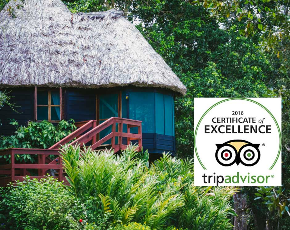 Belize's Chaa Creek wins TripAdvisor Excellence Award 2016