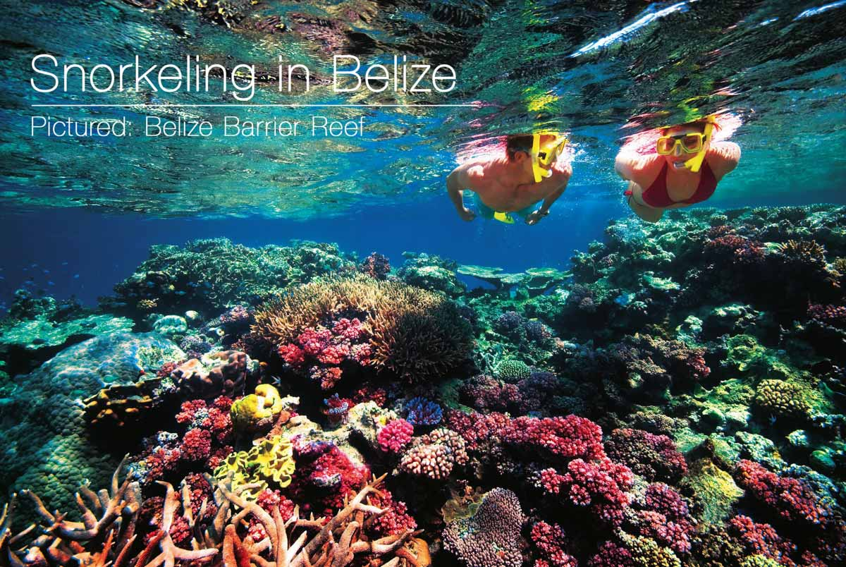Favorite things to do in Belize is snorkeling the great barrier reef