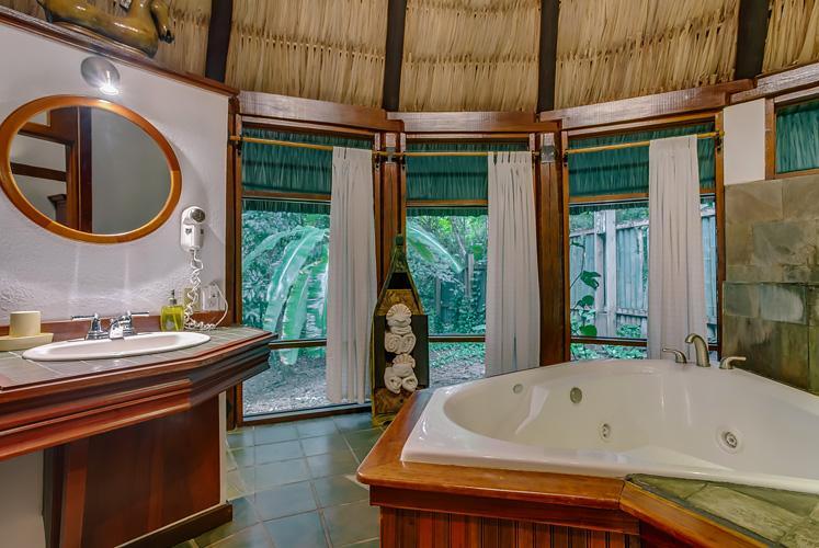 Belize complete jacuzzi suite chaa creek resort bathroom
