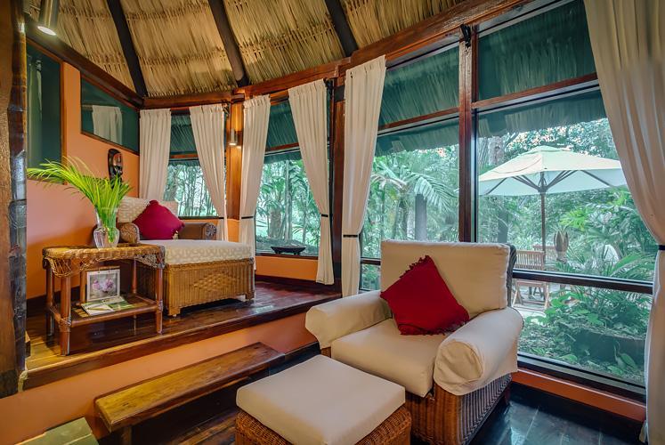 Belize complete jacuzzi suite chaa creek resort living room