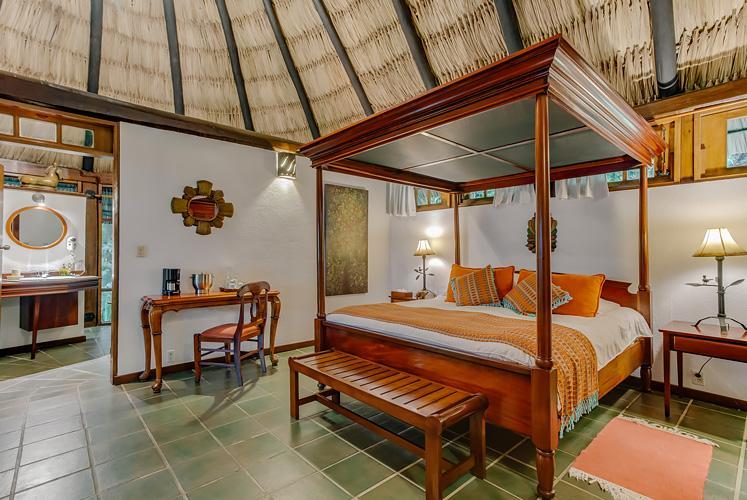 Belize complete jacuzzi suite chaa creek resort master bedroom view