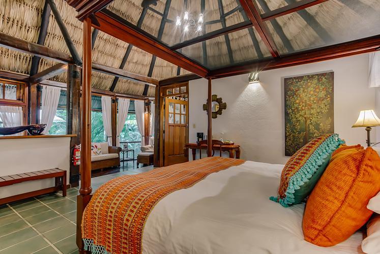 Belize complete jacuzzi suite chaa creek resort master bedroom