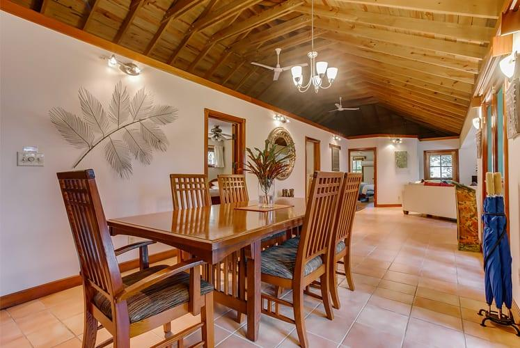 Belize luxury spa villa chaa creek resort master dining room