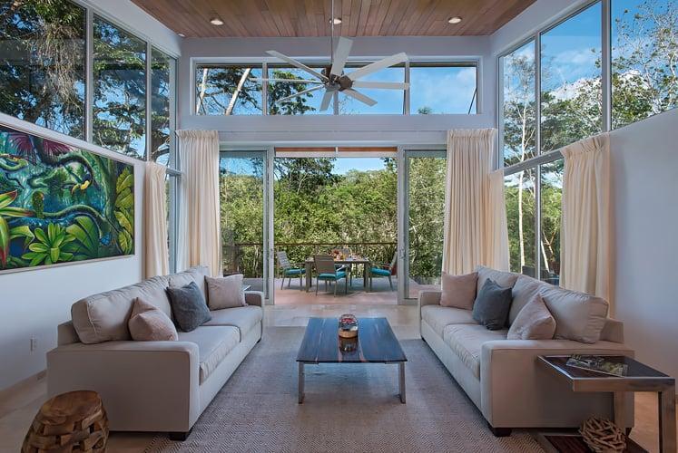 Belize luxury villas ix chel chaa creek living room