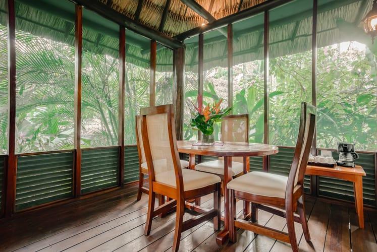 Belize orchard family villa chaa creek resort dining