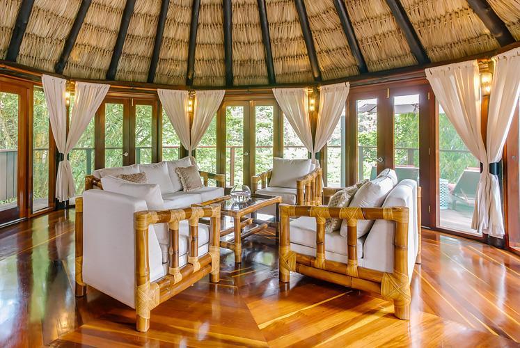 Belize treetop jungle villas chaa creek living room