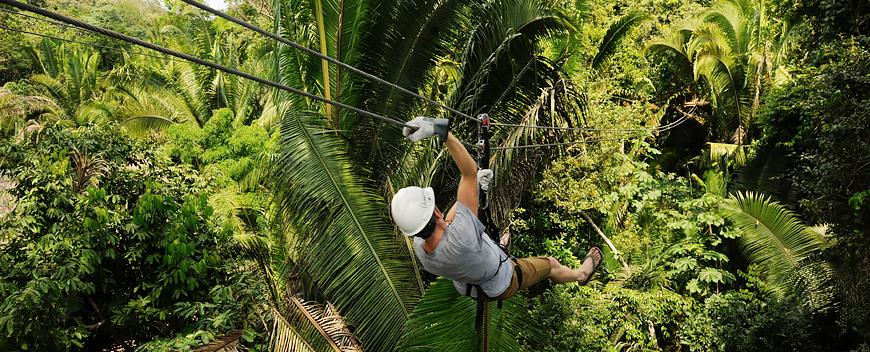 Belize Zip-lining Tours are popular near western Belize.