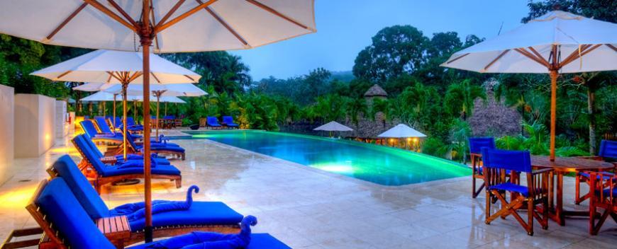 Belize last minute discount at Chaa creek resort swimming pool view