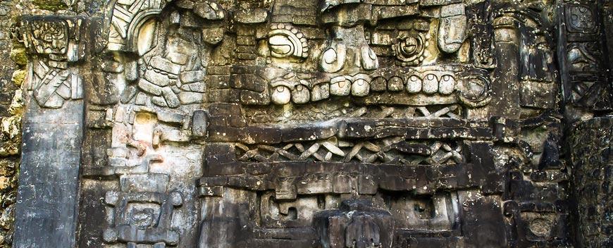 Mayan Ruins Caracol Glyphs