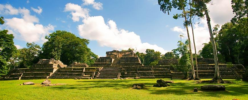 Belize Mayan Ruins Caracol City Plaza 2