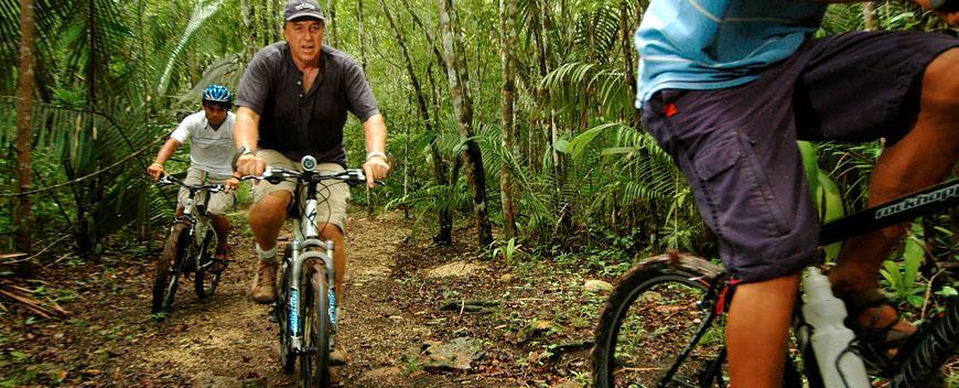 Belize Mountain Biking Tour in the jungle