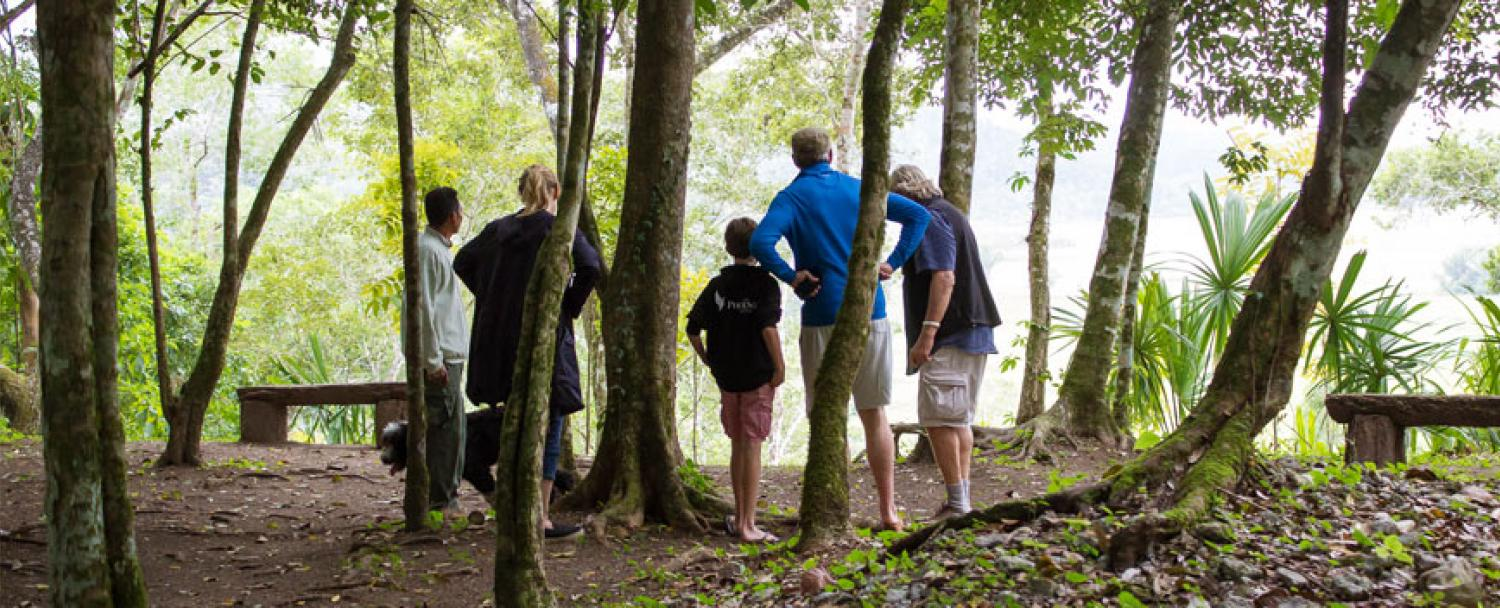 Belize Naturalist Guide & Chaa Creek Lodge's Owner giving a tour