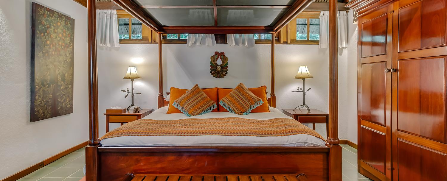 garden jaccuzi suite comfortable bed at chaa creek belize