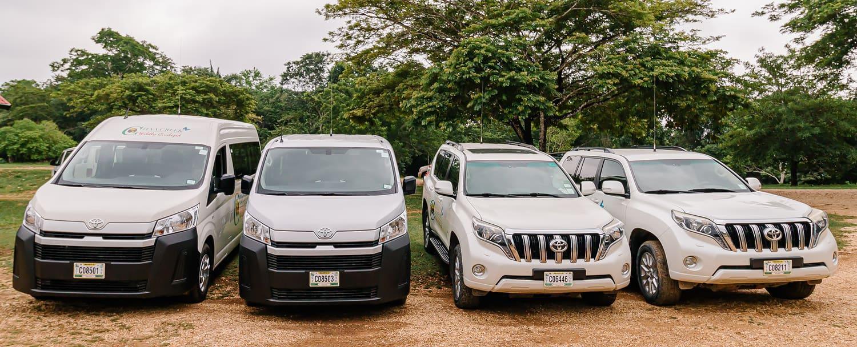 Chaa Creek Belize Transfers - Toyota Fleet