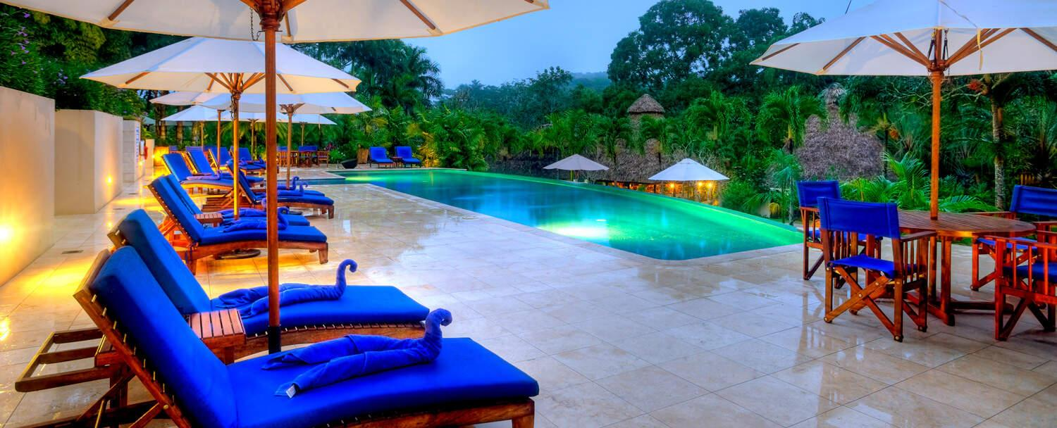 Belize all inclusive beach jungle vacation package chaa creek swimming pool