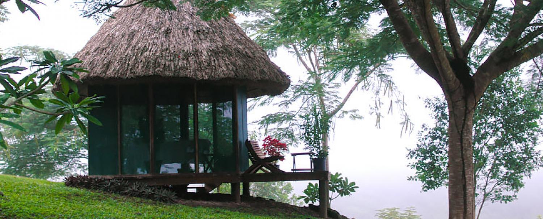 Outdoor massage spa at chaa creek