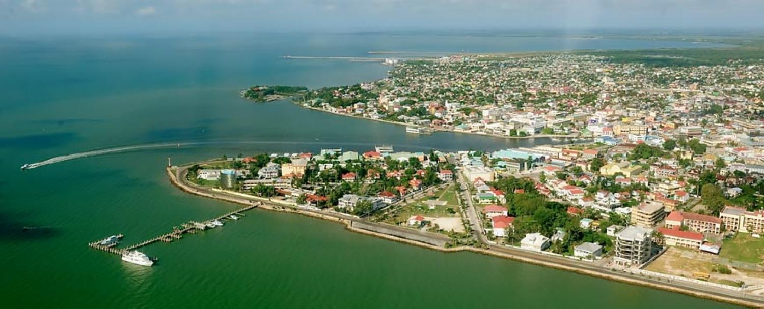 Belize City Aerial Shot