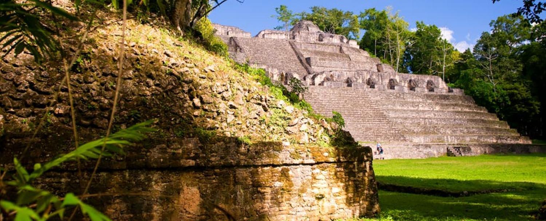 Mayan Ruins Caracol City Plaza