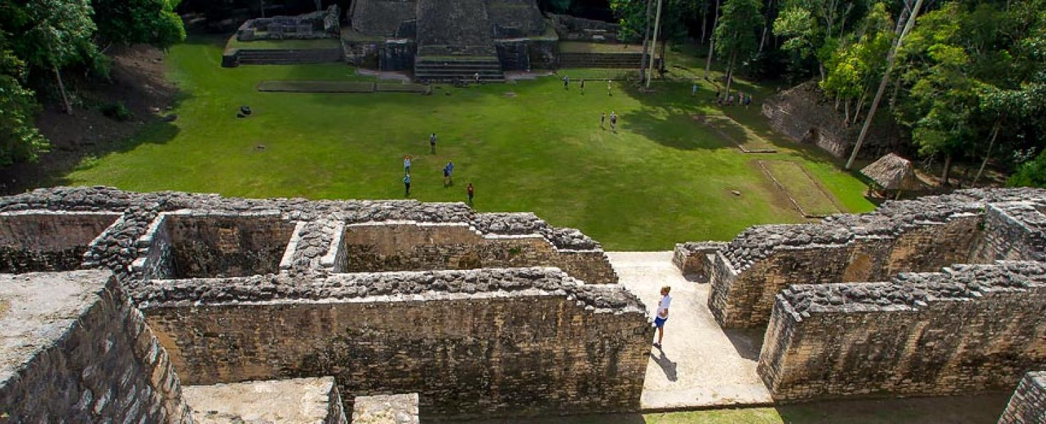 Mayan Ruins Caracol City Structure