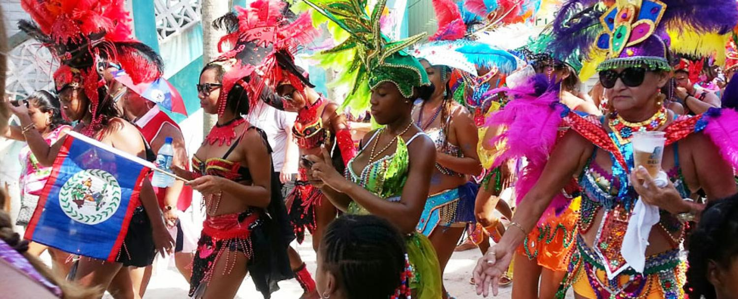 Belize is home to one of the best Caribbean Carnivals for the month of September!