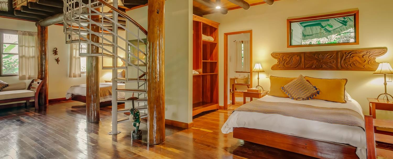 Luxury family villa accommodation at Belize luxury Resort Chaa Creek