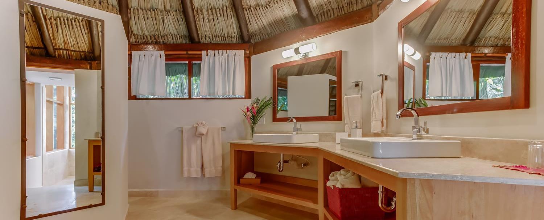 Belize Luxury Treetop Villas bathroom at Chaa Creek Resort