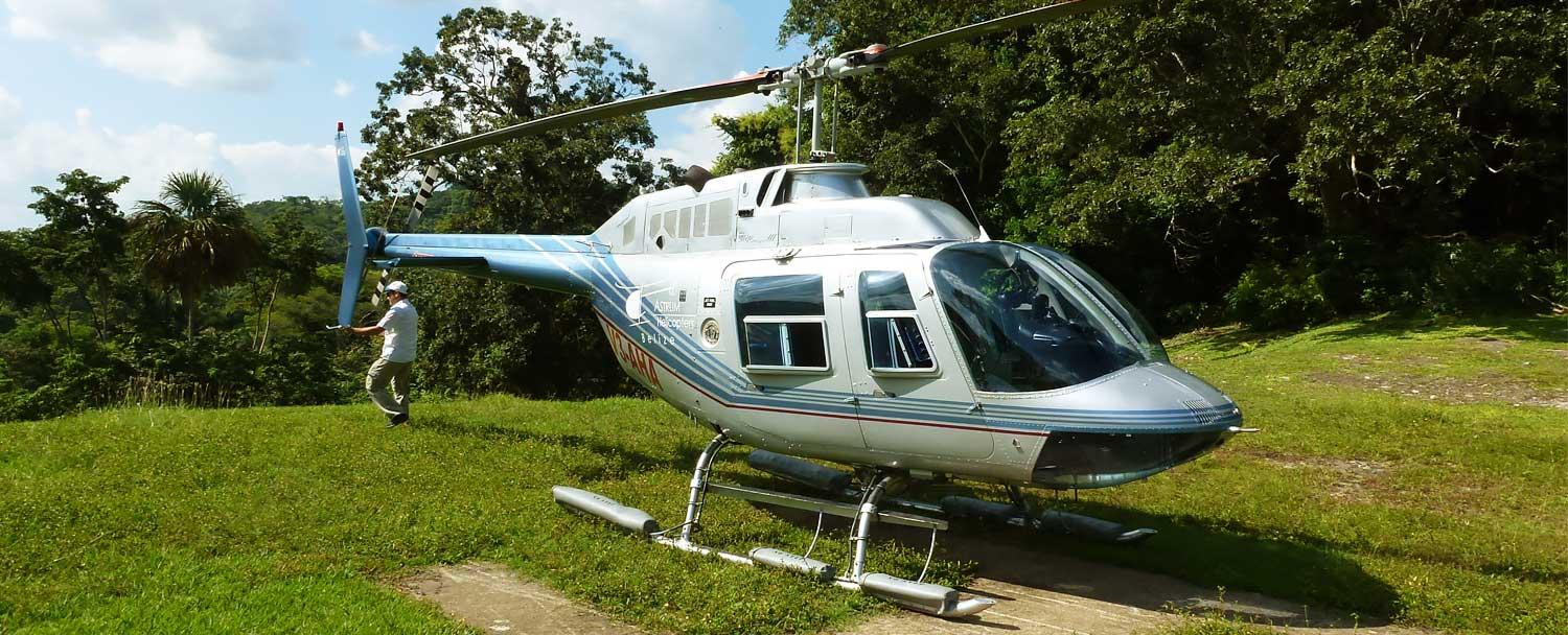 Belize Heli Pad at Chaa Creek Resort