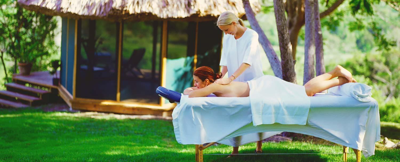 Belize spa resort outdoor massage
