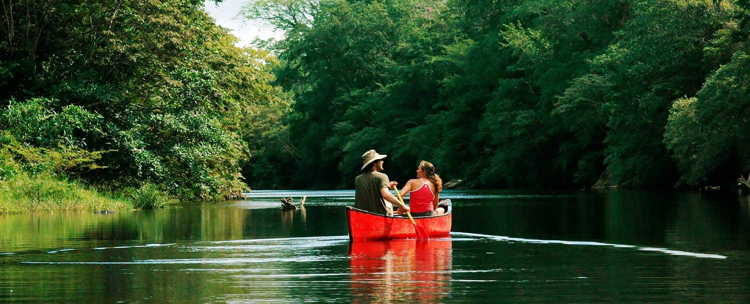 Canoeing Tours on Chaa Creek Belize Vacation Package