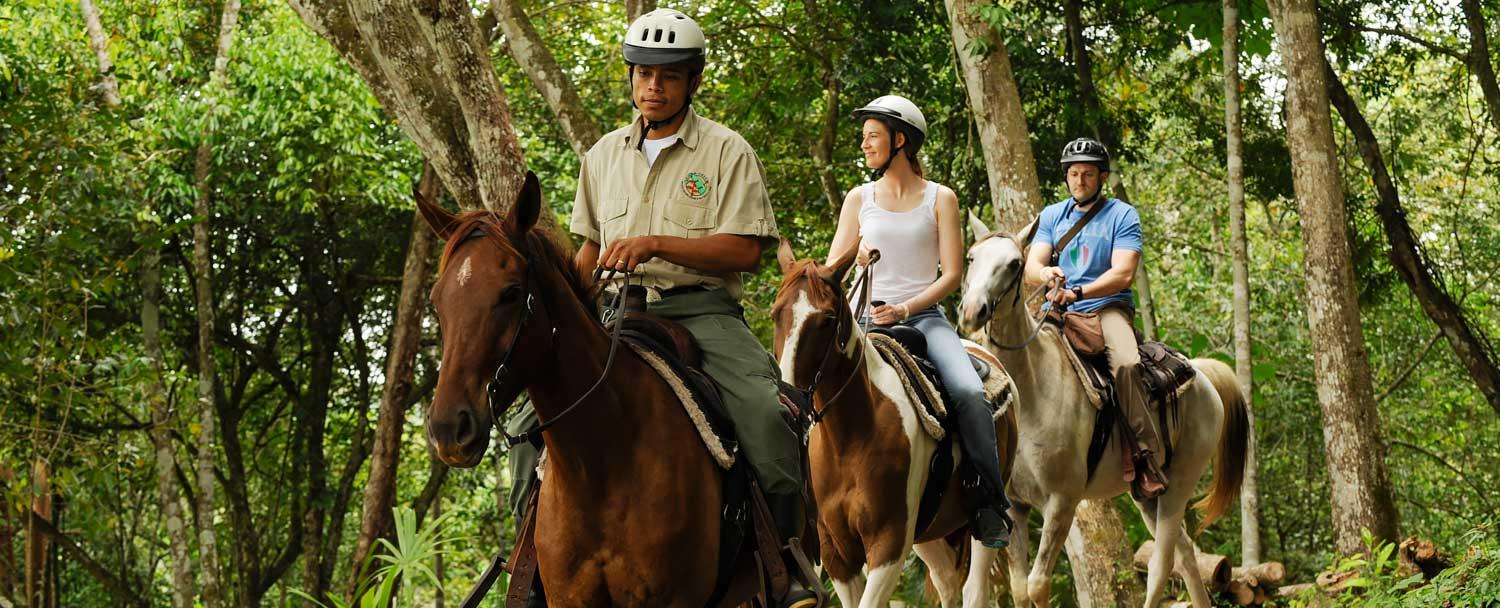 Belize Vacation Package horseback riding tours at Chaa Creek