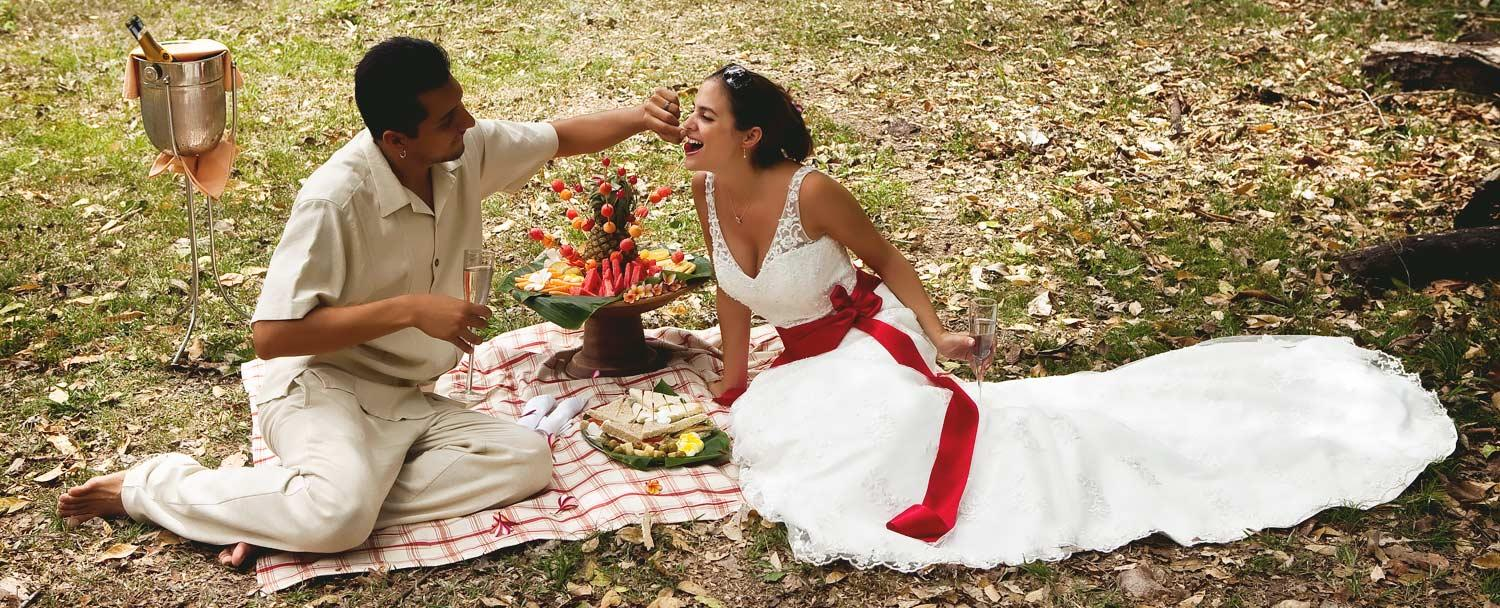 Belize Wedding Day Packages Picnic at Chaa Creek