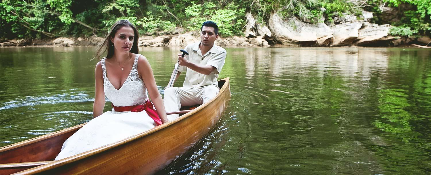 Belize Wedding Day Packages Canoeing at Chaa Creek