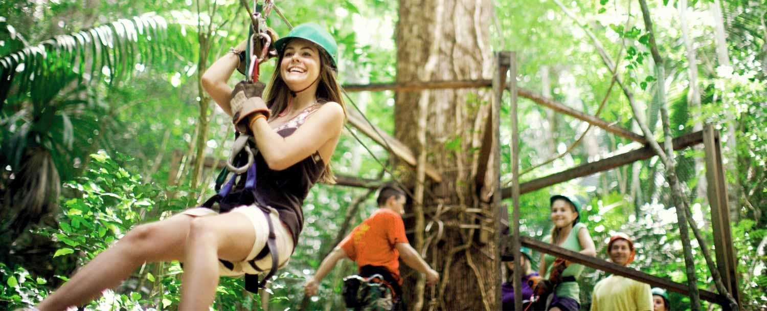Zip-line with Chaa Creek's all inclusive belize vacation package