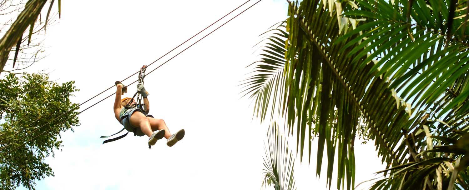 Belize zip lining tours at Calico Jacks with Chaa Creek Resort