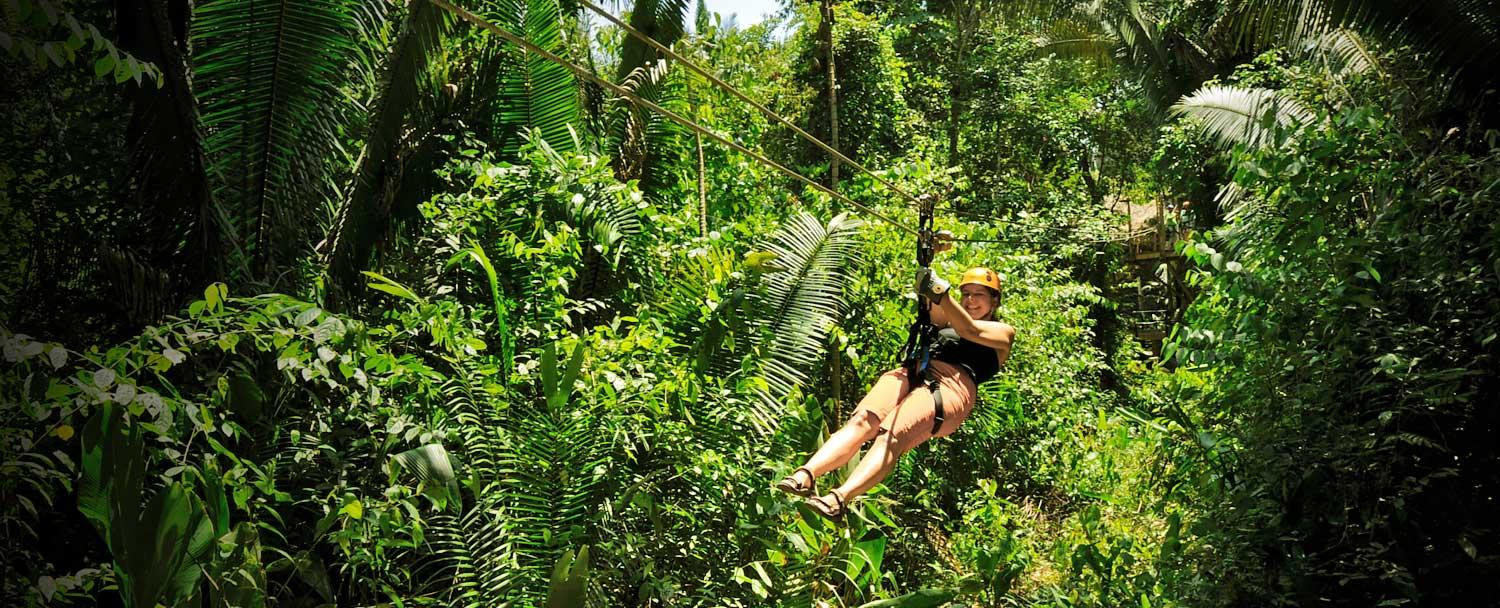 Our Belize zip lining tour will have you flying in the jungle with Chaa Creek Resort