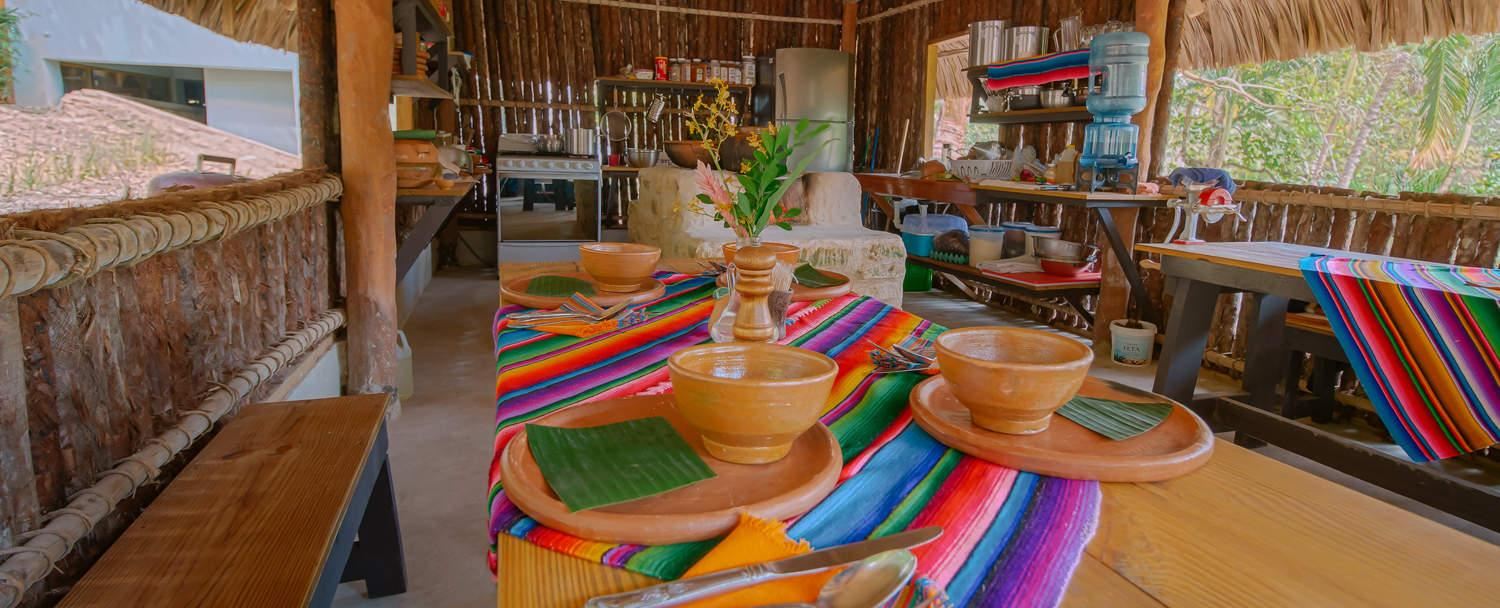 Chaa Creek Belize Open Hearth Cultural Cooking Classes interior