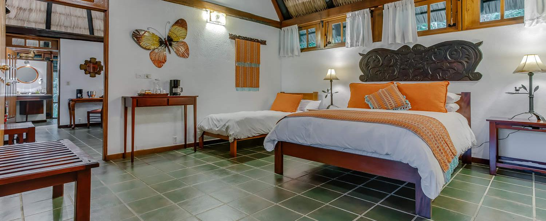 Belize luxury complete garden suite second bedroom at chaa creek