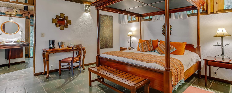 Belize luxury complete garden suite bedroom at chaa creek