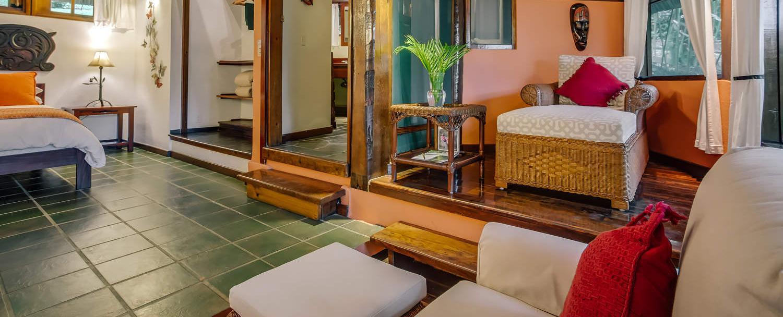 complete luxury garden jacuzzi suite living room