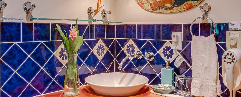 Belize spa villa bathroom view at chaa creek resort
