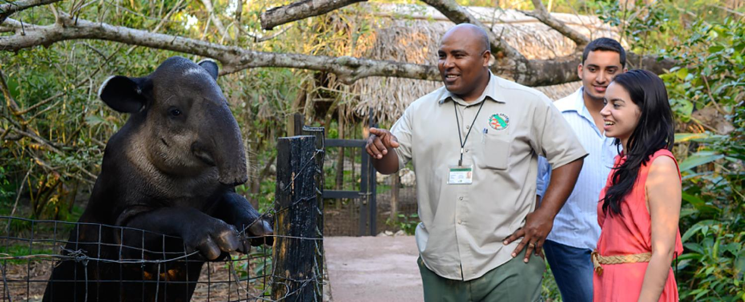 Guests of Chaa Creek at The Belize Zoo