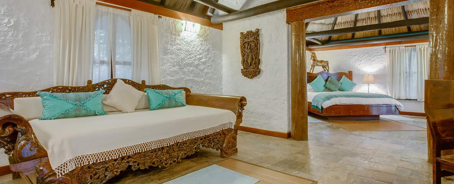 Luxury Belize macal suite interior at Chaa Creek Resort