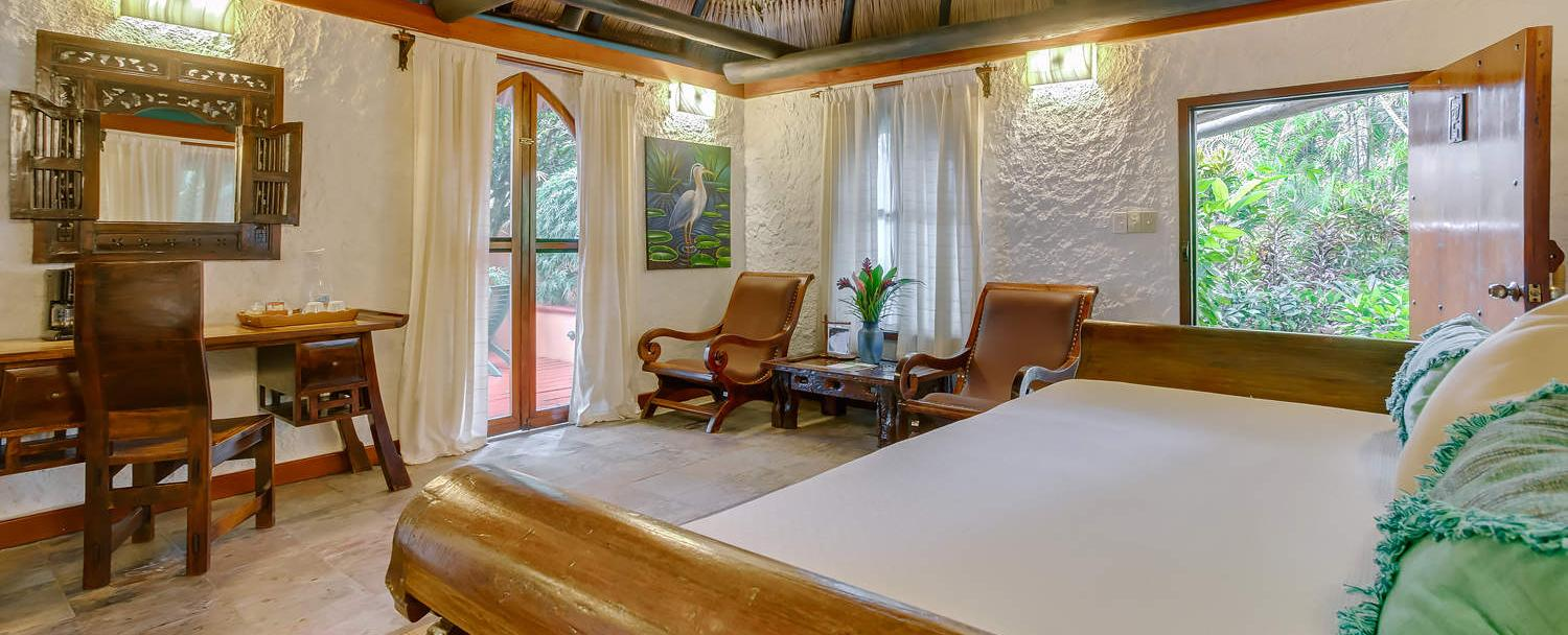 chaa creek belize luxury macal suite living room
