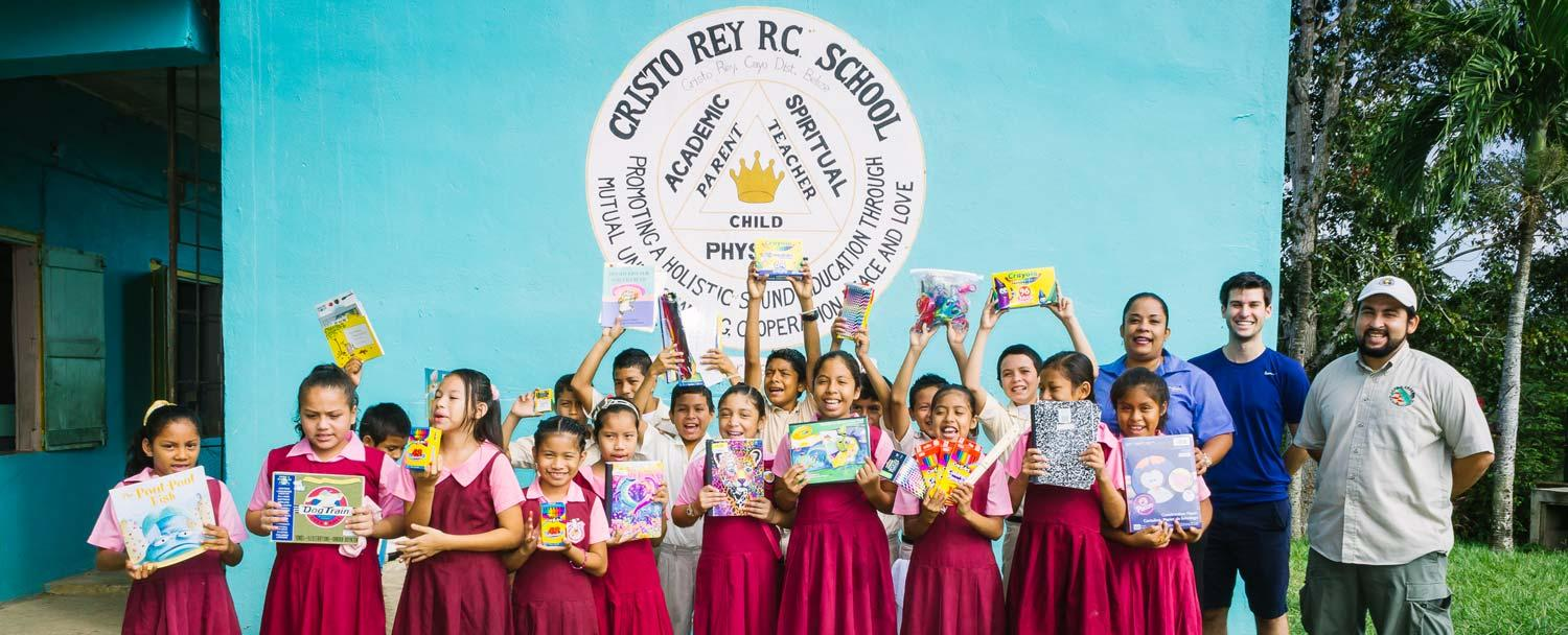 Chaa Creek's Pack a Pound program at Cristo Rey RC School