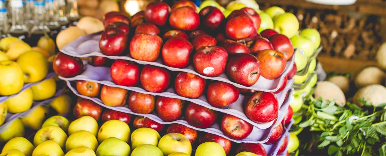 Fresh apples at san ignacio market tour by Chaa Creek