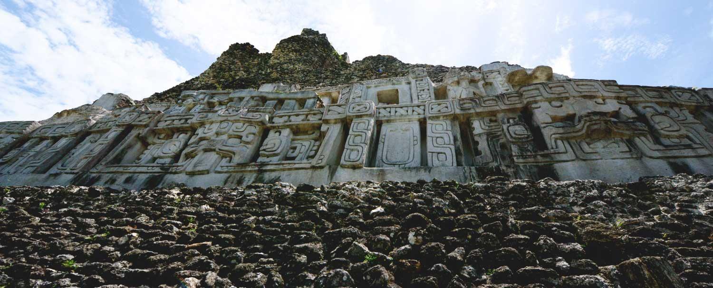 Xunantunich Mayan Ruins glyphs at El Castillo