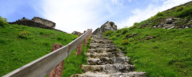 Xunantunich Mayan Ruins Stairs
